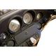 Black/Chrome Barrel Glove Box Lock Door - GD-3