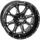 Rear Machined Gloss Black HD4  Wheel - 12HD400