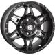 Matte Black Rear Mega HD7 Wheel - 14HD710