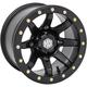 Solid Matte Black Front Comp Lock HD9 Wheel - 14HB925