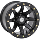 Solid Matte Black  Front Comp Lock HD9 Wheel - 15HB928