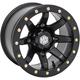 Solid Matte Black Rear Comp Lock HD9 Wheel - 15HB92710