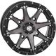 Machined Gloss Black w/Smoke Front HD10 Wheel - 14HD1010