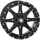 Solid Gloss Black Front HD10 Wheel - 14HD1027