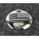 Chrome Blue Line American Flag Fuel Door Cover - LE03-13