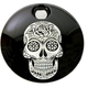 Black Sugar Skull Fuel Door Cover - SSKUL-13BG