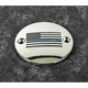 Chrome Blue Line American Flag Timing Cover - LE03-63
