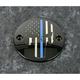Black Blue Line Skull Timing Cover - LE04-63BG