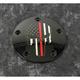 Black Red Line Skull Timing Cover - FF13-04BG