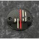 Black Red Line Skull Timing Cover - FF13-63BG