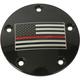 Black Red Line American Flag Timing Cover - FF12-04BG