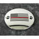 Chrome Red Line American Flag Timing Cover - FF12-63