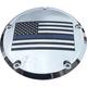 Chrome Blue Line American Flag Low Profile Derby Cover - LE03-46