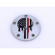 Chrome Red Line Skull Low Profile Derby Cover - FF13-67