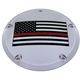 Chrome Red Line American Flag Derby Cover - FF12-12