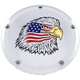 Chrome Stars and Stripes Eagle Low Profile Derby Cover - PATR04-46