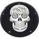 Black Sugar Skull Low Profile Derby Cover - SSKUL-46BG