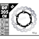 Front Aluminium Floating Wave Rotor w/Holes - DF205CW