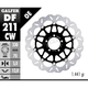 Front Aluminium Floating Wave Rotor w/Holes - DF211CW
