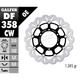 Front Aluminium Floating Wave Rotor w/Holes - DF358CW