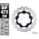Front Aluminium Floating Wave Rotor w/Holes - DF475CW