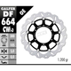 Front Aluminium Floating Wave Rotor w/Holes - DF664CWD