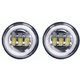 Black 4 1/2 in. LED Auxiliary Lights w/Full Halo - BC-452B