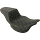 Black Lattice Stitched Step Up Seat - 808-07B-175E