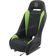 Black/Green Extreme Double T Seat - EBUBLDTKW