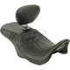 Black Perforated Outcast GT Double Diamond 2-Up Seat w/Driver Backrest - LK-997BRGT2