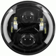 Black 7 in. LED Round Headlight w/Partial Halo - BC-703B