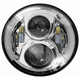 Silver 7 in. LED Round Headlight w/Partial Halo - BC-703S