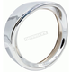 Chrome 7 in. Visor Style Light Trim Ring  - BC-HDTRIM4