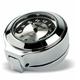 Black/Silver Face Flip Fork Lock Key Cover Clock - 110103