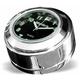 Black Face Swivel Fork Lock Cover Clock - 111102