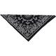 Black Paisley Cotton Bandana  - B001