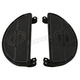 Black Driver Replica Floorboards w/H-D Logo - 27-0916