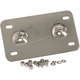 Chrome Lay Back License Plate Mount - 53385-00