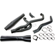 Black 2 into 1 X-Series High Exhaust System - 1360XB