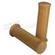 Light Brown Retro Rubber Grips for 1 in. Handlebars - 42015