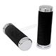 Chrome/Black Deluxe Comfort Touch Handlebar Grips - 42008