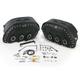 Desperado S4 Rigid-Mount Quick-Disconnect Saddlebags w/Integrated LED Marker Lights - 3501-0225-LES