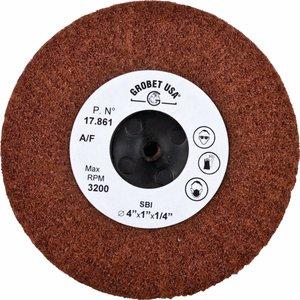 "Grobet Aluminum Oxide Flap Wheel Size 4/"" x 1/"" Satin Buffing Wheel Medium"