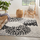 Nourison Aloha 6' X 9' Black White Floral Indoor/outdoor Rug