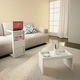 Manhattan Comfort Marine Coffee and Side Table - Set of 2 in White