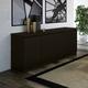 Manhattan Comfort Viennese Sideboard in Black Matte