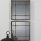 Uttermost Saragano Square Mirrors Set of 2