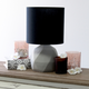 Simple Designs  Simple Designs Geometric Concrete Lamp, Black
