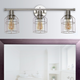 Lalia Home Lalia Home 3 Light Industrial Wired Vanity Light, Brushed Nickel