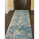 Transocean Gorham Medallion Indoor/Outdoor Rug Blue 4'10